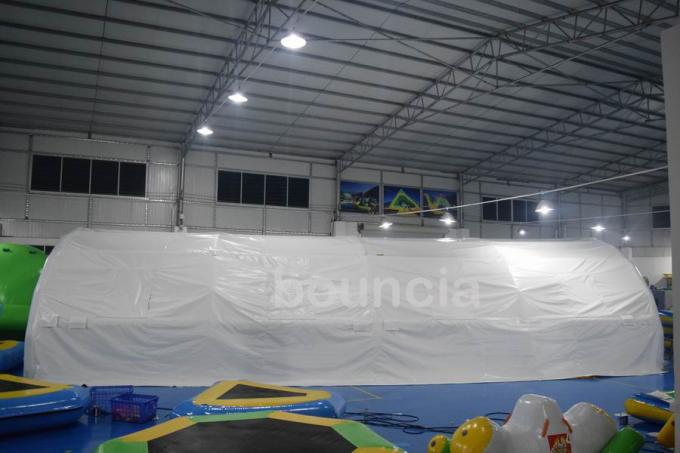 Durable White Outdoor Airtight Tent / Inflatable Event Tent With 0.9mm PVC Tarpaulin