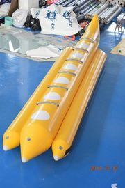 Yellow Color Lake Inflatable Banana Boat Fly Fish Dengan EN15649 For Children