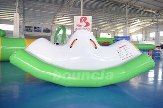 Cina 0.9mm PVC Tarpaulin Inflatable Water Totter / Inflatable Water Seesaw For Pool pabrik