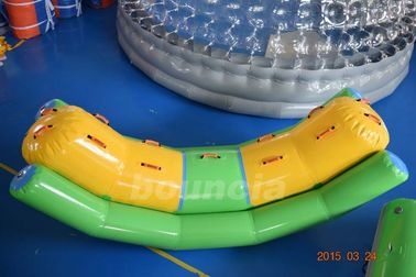 Cina Commercial Grade and Durable Inflatable Water Totter With Durable Handles pabrik