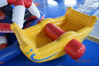 Cina Commercial Grade Inflatable Water Totter For Swimming Pool / Lake pabrik