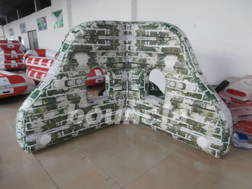 Cina PVC tarpaulin Mossy Inflatable Paintball Bunkers For Paintball Sports pabrik