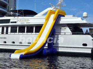 Cina 7.7m Long Inflatable Water Slide For Yacht , Yacht Inflatable Water Slide pabrik