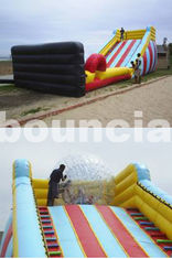 Cina 5m High Inflatable Zorb Ball Slope ,Inflatable Track For Zorbing Ball pabrik