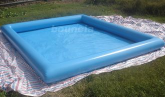 Cina 10mL*8mW*0.65mH Outdoor Inflatabel Water Pool With PVC Tarpaulin pabrik