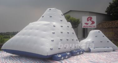 Water Park Inflatable Water Iceberg / Inflatable Water Climbing Wall