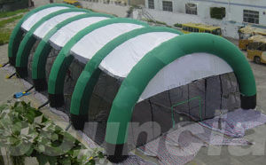 Cina Constant Air Inflatable Paintball Arena With Durable Nylon For Commercial Use pabrik