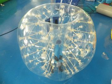 Cina 0.7mm Clear TPU Kids Bumper Ball, Inflatable Body Zorb Ball For Fun pabrik