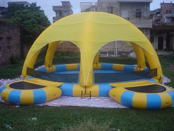 Cina Inflatable Water Pool With Tent / Inflatable Water Ball Pool For Party pabrik