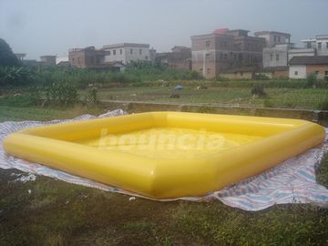 Cina Yellow Color Outdoor Inflatable Water Pool With Reinforcement Strips pabrik