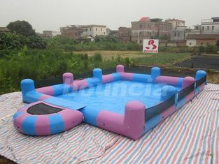 Cina Water Walking Ball Inflatable Water Pool With Platform pabrik