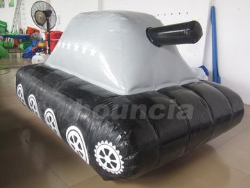 Cina 0.6mm / 0.9mm PVC Tarpaulin Fabric  Inflatable Military Tank for Paintball Sport pabrik