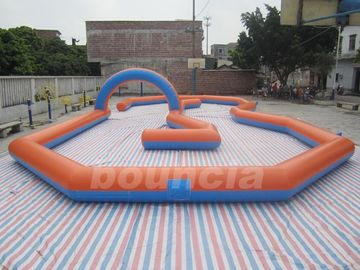 Cina Customized Inflatable Zorb Ball Field , Zorbing Ball Track With PVC Tarpauline pabrik
