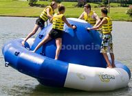 Cina 0.9mm Double Layer PVC Fabric Inflatable Saturn Rocker For Adult Used In Lake perusahaan