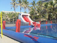 Durable Inflatable Water Park Slides With Big Pool For Beach Or Hotel pemasok