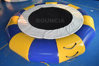 Cina PVC Tarpaulin Round Inflatable Water Trampoline Durable With Spring Structure pabrik