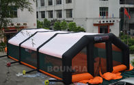 Cina 210D PVC Coated Nylon Inflatable Paintball Tent / Paintball Arena With Air Blowers perusahaan