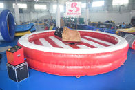 Cina Inflatable Bull Riding Machine / Inflatable Mechanical Bull For Amusement Park perusahaan