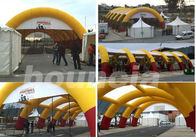 30*15m Inflatable Paintball Arena With Professional Paintball Netting For Paintball Game