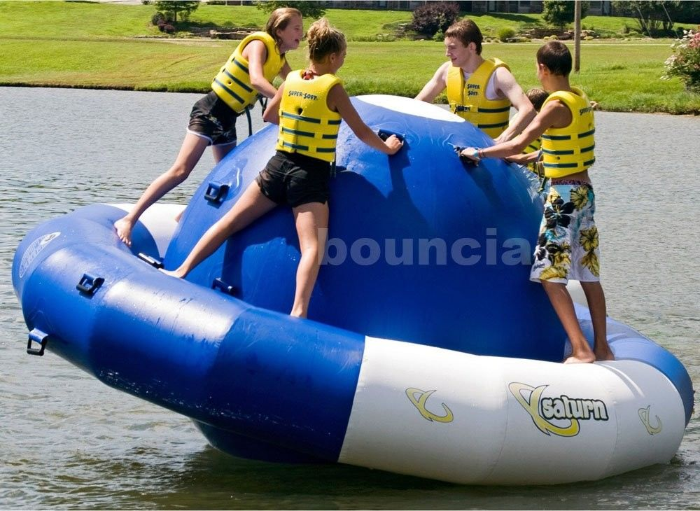 0.9mm Double Layer PVC Fabric Inflatable Saturn Rocker For Adult Used In Lake pemasok