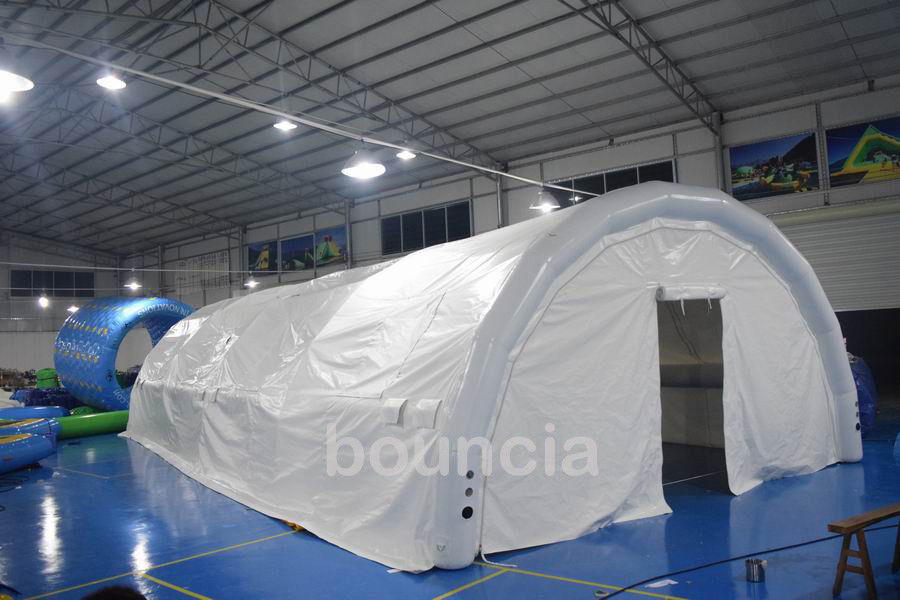 Durable White Outdoor Airtight Tent / Inflatable Event Tent With 0.9mm PVC Tarpaulin pemasok