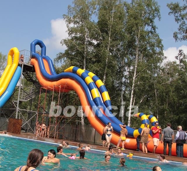 Giant Inflatable Water Slide With Durable 0.9 mm PVC Tarpaulin pemasok