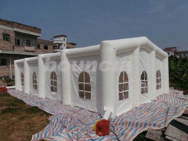 12mL*6mW*3.35mH White Inflatable Wedding Tent With 210D PVC Coated Nylon pemasok