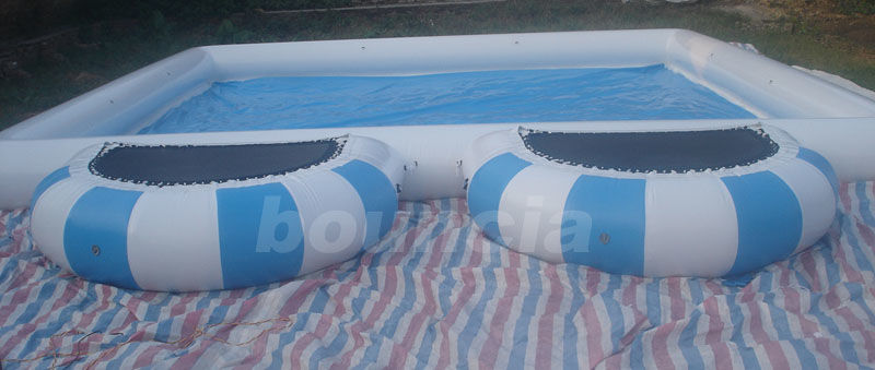 0.9mm  PVC Tarpaulin Round Outdoor Inflatable Swimming Pool With Platform pemasok