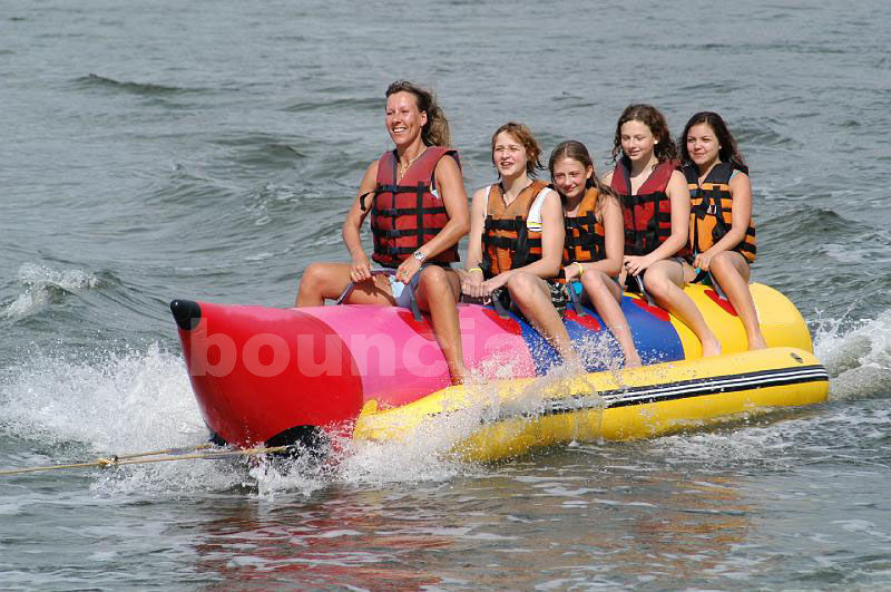 Inflatable Banana Boat For 5 Persons , Inflatable Towable Water Tube pemasok