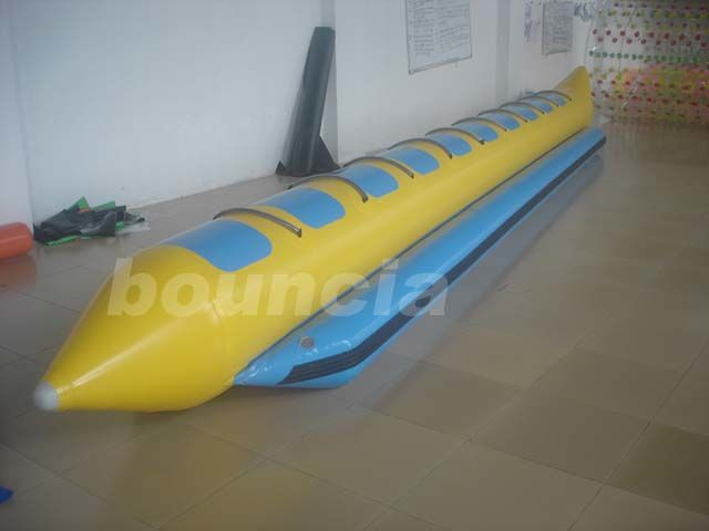 Inflatable Towable Banana Boat With 2.0mm PVC Tarpaulin Bottoms For Ocean pemasok