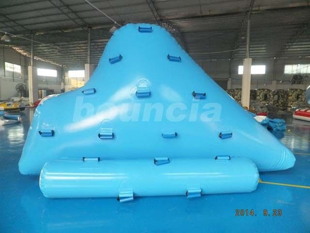 Durable Inflatable Floating Iceberg For Climbing , Kids Inflatable Climbing Mountain