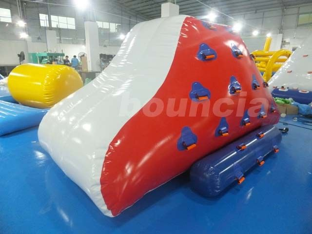 Red Inflatable Iceberg With 2 Sides Climbing For Swimming Pool pemasok