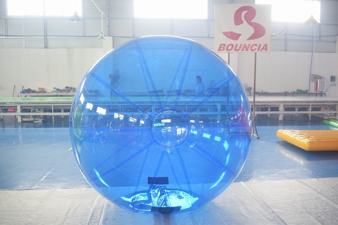 Blue Color Inflatable Water Walking Ball With 0.8m PVC Material pemasok